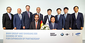 BMW Group and Samsung SDI expand partnership Signing of MOU for delivery of further battery cells