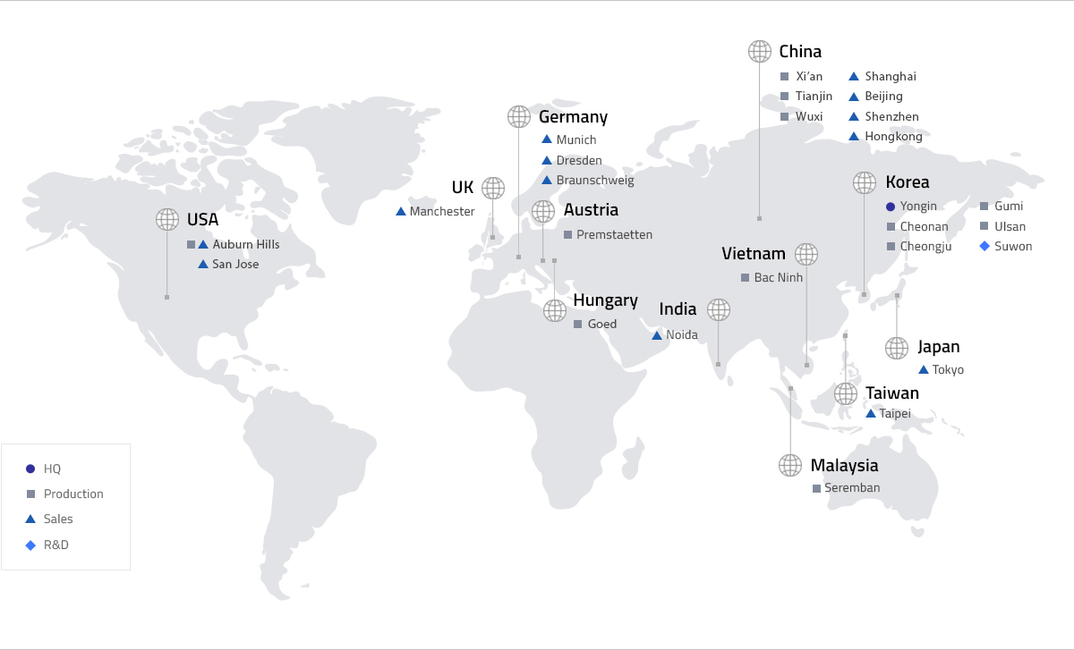 Samsung SDI Global Network - Locations | Samsung SDI